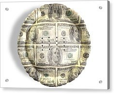 Money Dollar Pie Acrylic Print by Allan Swart