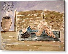Monika Passion. Acrylic Print by Shlomo Zangilevitch