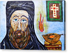 Monk 2 Acrylic Print by Sarah Loft