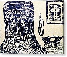 Monk 5 Acrylic Print by Sarah Loft