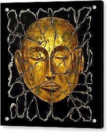 Monk In Meditation Acrylic Print by Steve Bogdanoff