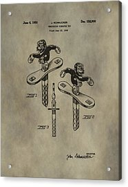 Monkey Toy Patent Acrylic Print by Dan Sproul