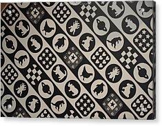 Monochrome Mosaic Acrylic Print by Sonali Gangane