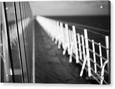 Monochrome Sun Deck Acrylic Print by Anne Gilbert