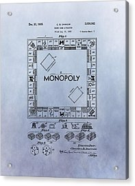 Monopoly Board Game Patent Acrylic Print by Dan Sproul