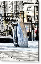 Monopoly Iron Statue In Philadelphia Acrylic Print by Bill Cannon