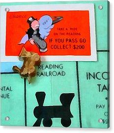 Monopoly Man Acrylic Print by Dan Sproul
