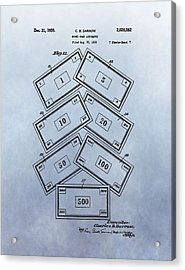 Monopoly Money Patent Acrylic Print by Dan Sproul