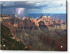 Monsoon Sunset Acrylic Print by Mike Buchheit