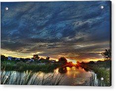 Monsoon Sunset Acrylic Print by Tam Ryan