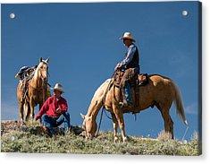 Montana Cowboy 3 Acrylic Print by Leland D Howard