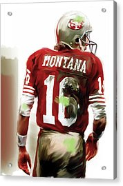 Montana II  Joe Montana Acrylic Print by Iconic Images Art Gallery David Pucciarelli