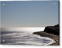 Montauk Beach And Bluff Acrylic Print by John Telfer