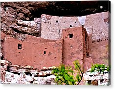 Montezuma Castle  Acrylic Print by Bob and Nadine Johnston
