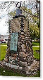 Montezuma Iowa Court House Monument Acrylic Print by Gregory Dyer