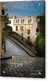Montmartre Alley Acrylic Print by Inge Johnsson