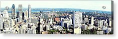 Montreal City View From Mont Royal Acrylic Print by Lingfai Leung
