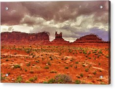 Monument Valley Acrylic Print by Ayse Deniz