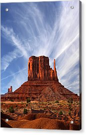 Monument Valley - Left Mitten 2 Acrylic Print by Mike McGlothlen