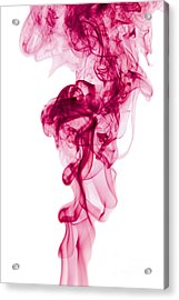 Mood Colored Abstract Vertical Deep Purple Smokel Art 01 Acrylic Print by Alexandra K