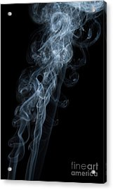 Abstract Vertical White Mood Colored Smoke Wall Art 01 Acrylic Print by Alexandra K