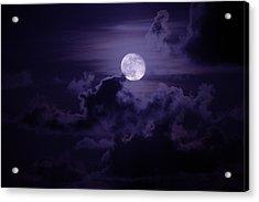 Moody Moon Acrylic Print by Chad Dutson