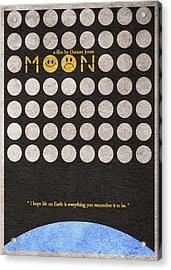Moon Acrylic Print by Ayse Deniz
