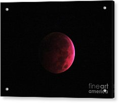 Moon Eclipse Blood Red Acrylic Print by Judy Via-Wolff