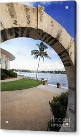 Moon Gate In Bermuda Acrylic Print by George Oze