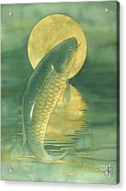 Moon Koi Acrylic Print by Robert Hooper
