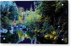 Moon Land Acrylic Print by David Walker