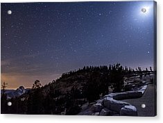 Moon Light At Olmstead Point Acrylic Print by Cat Connor