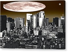 Moon Over Manhattan Acrylic Print by Kellice Swaggerty