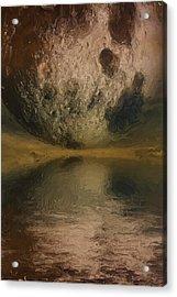 Moon Over Ocean Acrylic Print by Ayse Deniz