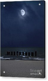 Moon Over Waters Acrylic Print by Margie Hurwich