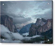 Moon Rise Yosemite Acrylic Print by Bill Roberts