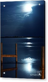 Moon River 2 Acrylic Print by Lynda Dawson-Youngclaus