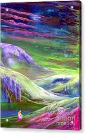 Moon Shadow Acrylic Print by Jane Small