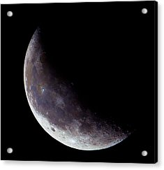 Moon Sliver Acrylic Print by Todd Ryburn