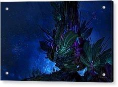 Moon Tree Hills Acrylic Print by Cassiopeia Art
