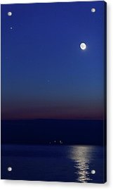Moon With Jupiter Acrylic Print by Luis Argerich