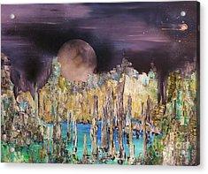 Moonhenge Acrylic Print by Kaye Miller-Dewing