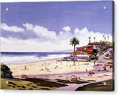 Moonlight Beach Encinitas Acrylic Print by Mary Helmreich
