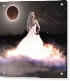 Moonlight Dancer Acrylic Print by KJ Bruce - Infinity Fusion Art