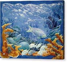Moonlight Swim Acrylic Print by Deborah Younglao