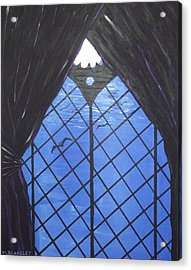 Moonlight Through The Window Acrylic Print by Martin Blakeley