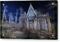 Moonlit Cape Cod Acrylic Print by Kylie Sabra