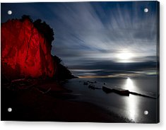 Moonrise At Clearville Beach Acrylic Print by Cale Best