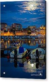 Moonrise In Karlskrona Acrylic Print by Inge Johnsson
