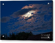 Moonscape Acrylic Print by Robert Bales